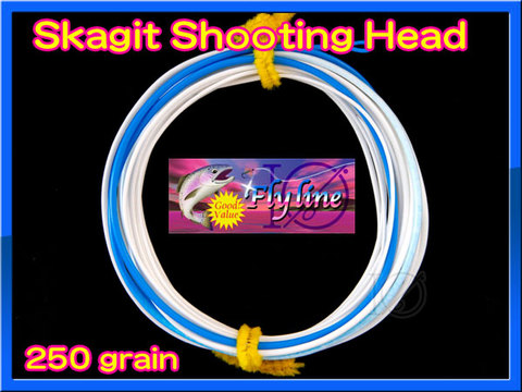 【イオ】スカジット シューティングヘッド Skagit 250 grain white&blue