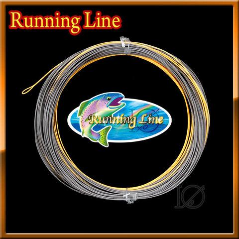 【イオ】フライ用 ランニングライン 0.6mm 両端ループ付き フローティング Orange Gray ダブルカラー