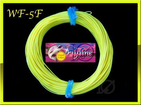 【イオ】 フライライン WF-5F Fluo Yellow Fly Line フローティング 両端ループ付き