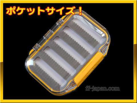 FLY ケース BOX フライボックス 透明 ポケットイエロー