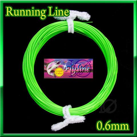 【イオ】フライ用 ランニングライン 0.6mm フローティング 緑色 Green