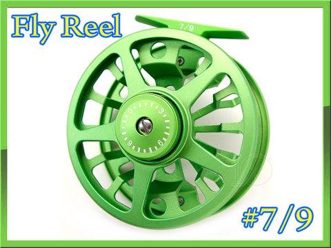 フライリール #7/9 ライトグリーン 綺麗な緑色 ディスクドラグ付