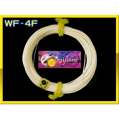 【イオ】フライライン WF-4F Light yellow フローティング ベージュ色 両端ル ープ付