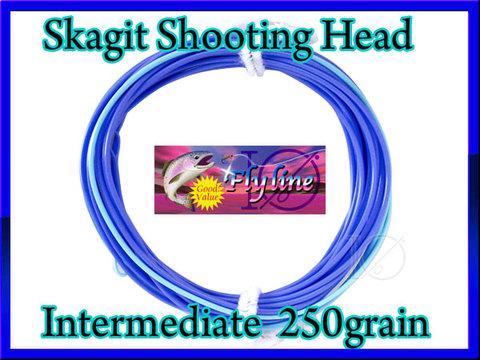 【イオ】 スカジット シューティングヘッド Skagit 250 grain インターミディエイト blue