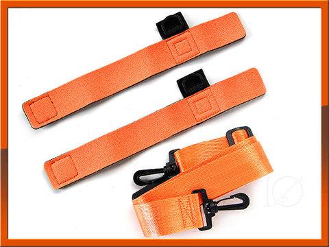 ロッドチューブ 玉網 ベルト Rod tube belt orange