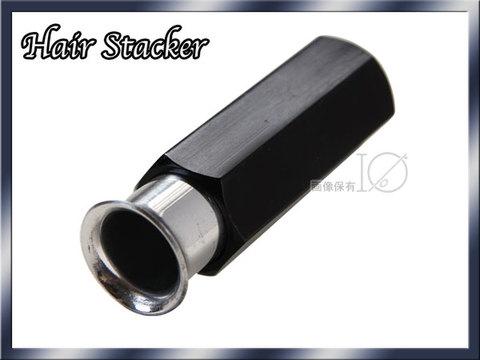 ヘアスタッカー Black&silver アルミ HAIR STACKER