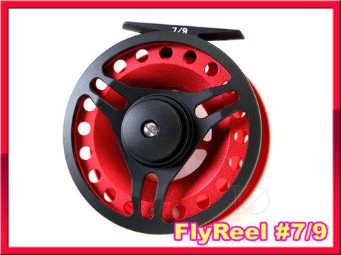 フライリール #7/9 Red Black ミッドアーバータイプ Fly Reel 黒赤