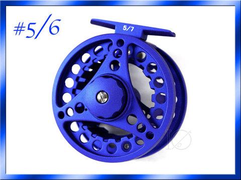 フライリール #5/6 ダイキャスト ブルー 青 Fly Reel フライフィッシング用