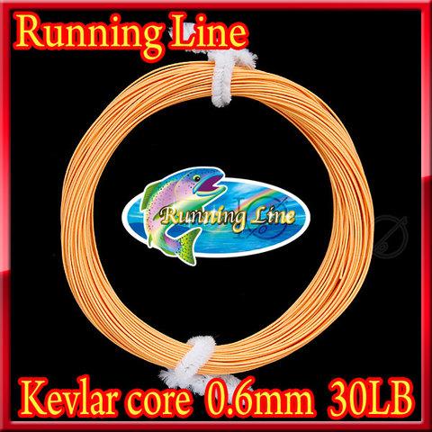 【イオ】フライ用 ランニングライン 0.6mm orange フローティング 30LB ケブラーコア