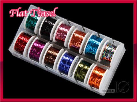 フラット・ティンセル 12個セット Flat Tinsel