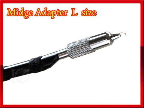 ミッジアダプター Lサイズ バイスの先端に取り付けて小さくフライフックを挟みます