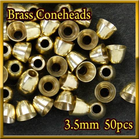 ブラス ビーズ コーンヘッド形状 Gold 50個セット Brass Beads 3.5mm Coneheads