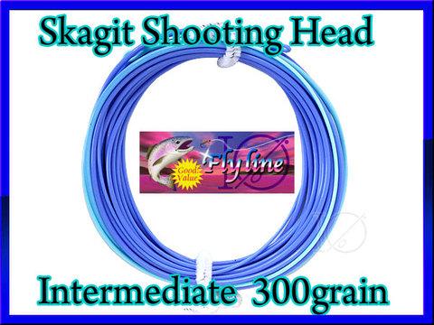 【イオ】 スカジット シューティングヘッド Skagit 300 grain インターミディエイト blue