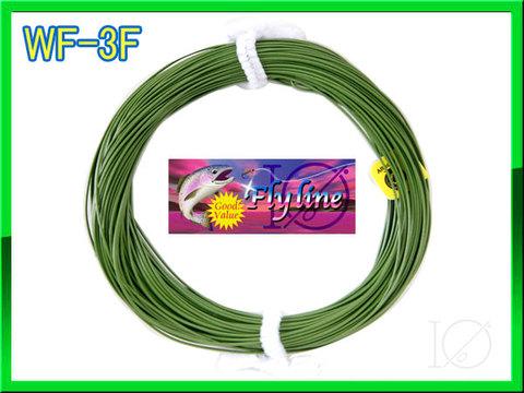 【イオ】 フライライン WF-3F  grass green フローティング 緑色 両端ループ付