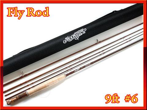 フライロッド Moon Shine Fly Rod #6 スペアティップ付 Fly Rod