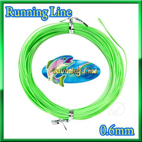 【イオ】 フライ用 ランニングライン 0.6mm シューティングライン フローティング Green 片側ループ付 緑色