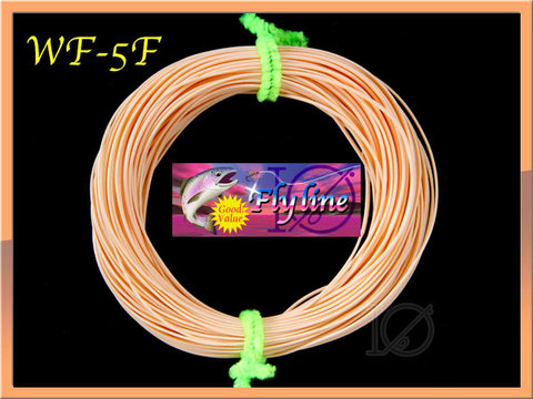 【イオ】 フライライン WF-5F Peach Fly Line フローティング 片側ループ付き