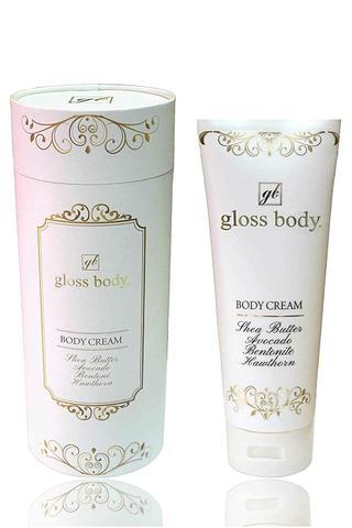 gloss body. グロスボディ ボディークリーム セルライト むくみ 妊娠線予防クリーム 4つの美容成分配合 230g 【日本製】