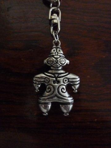 遮光器土偶キーホルダー 真鍮製
