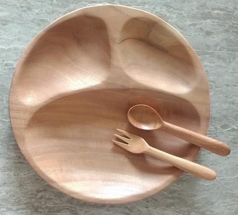 ニームの木のお皿&スプーン&フォーク
