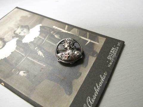 ジャンヌダルクのチェーンストッパー銀製800