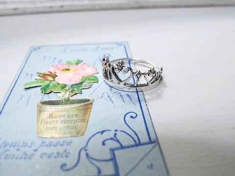 銀製925 ヴィンテージ王冠のリング