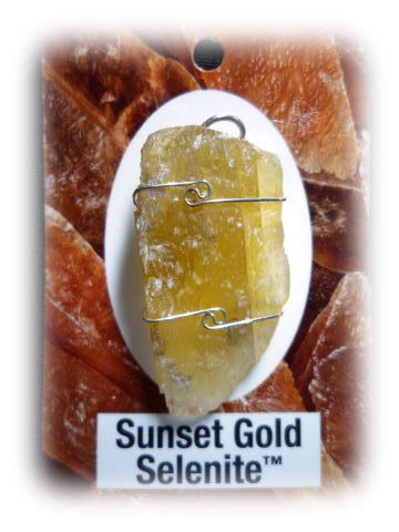 Sunset Gold Selenite
