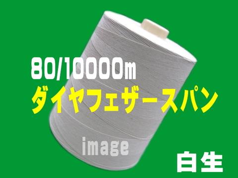 80/10000m ダイヤフェザースパン生白