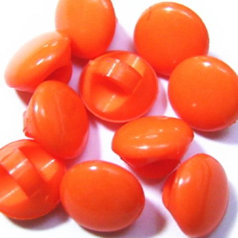 マーブルボタン【平丸】6ミリ(オレンジ)