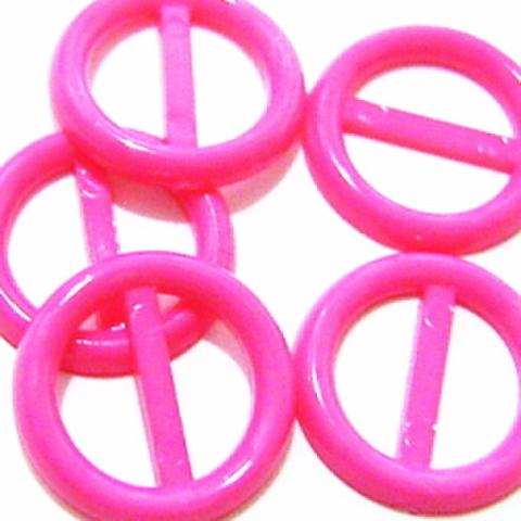プラバックル【丸】5ヶセット(ピンク)