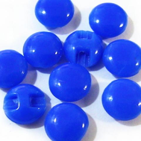 マーブルボタン【平丸】8ミリ(青)
