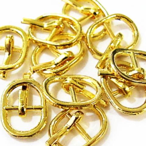 メッキバックル・爪あり【チビ丸】10ヶセット(ゴールド)