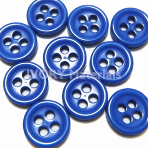 4つ穴ボタン8ミリ(青)