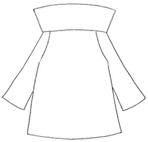 【型紙(赤)】ハイネックセーター