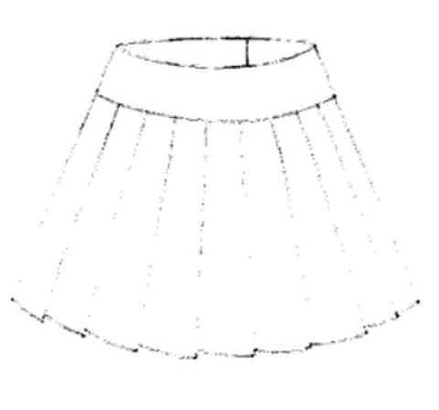 【型紙(茶)】プリーツスカート