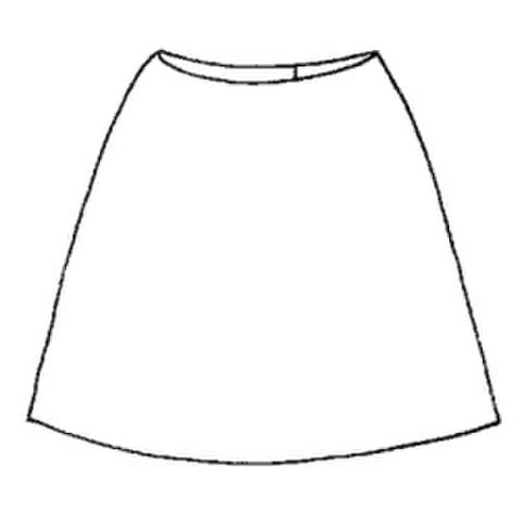 【型紙(茶)】タイトスカート