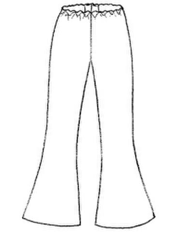 【型紙(茶)】裾フレアースパッツ