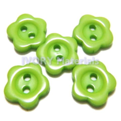 お花のボタン(きみどり)5ヶセット