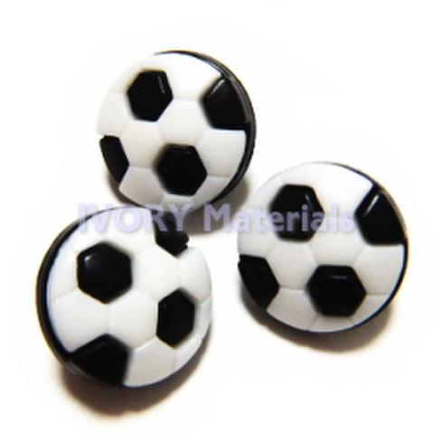 サッカーボールのボタン・3ヶセット