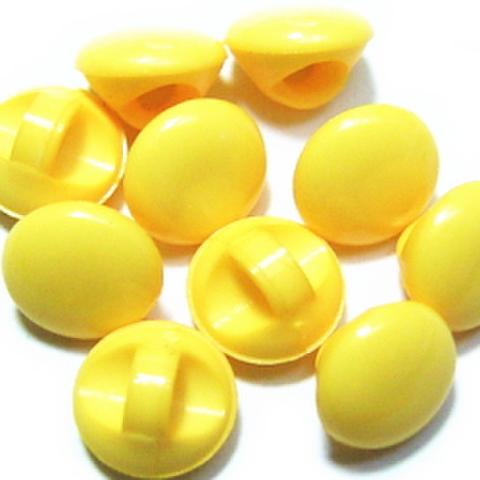 マーブルボタン【平丸】6ミリ(黄色)