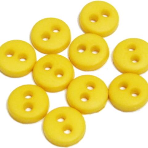 ミニボタン6ミリ(黄)