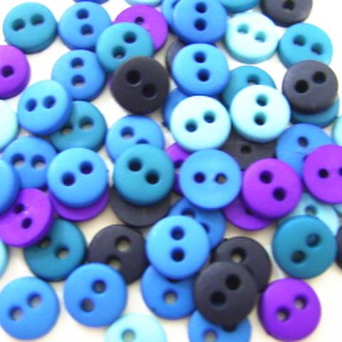 ミニボタン6ミリセット(ブルー系)