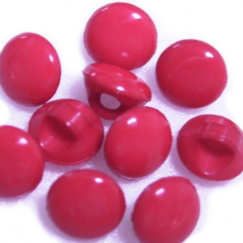 マーブルボタン【平丸】6ミリ(赤)