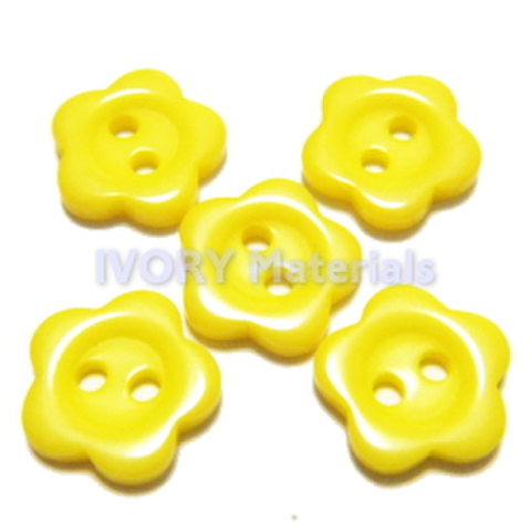 お花のボタン(黄色)5ヶセット