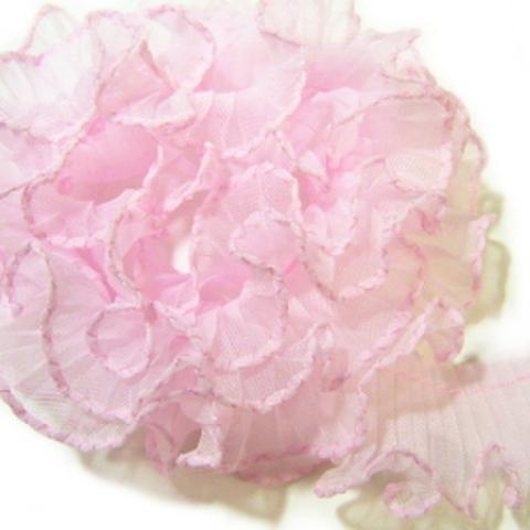 テトロンフリルレース(ピンク#2)