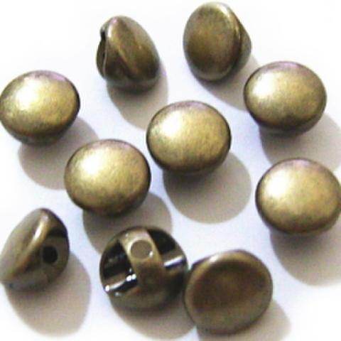 メッキマーブルボタン6ミリ(アンティークゴールド)