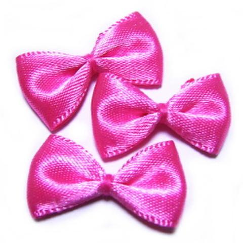 リボンモチーフ・3ヶセット【無地】ピンク