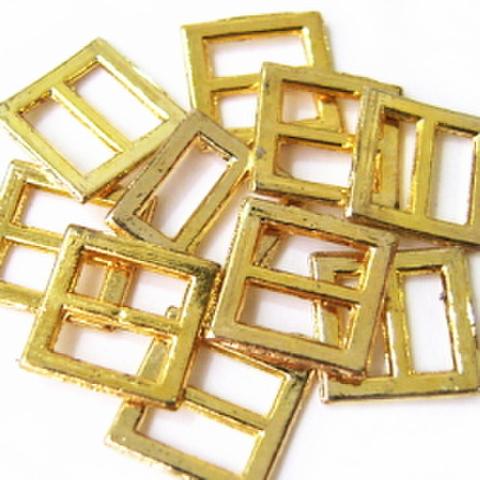 メッキバックル・爪なし【角中】10ヶセット(ゴールド)