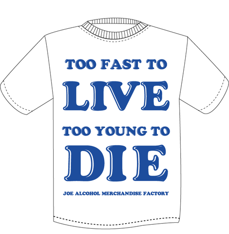 JAMF  TOO FAST TO LIVE TOO YOUNG TO DIE T-Shits NAVYロゴ