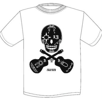 JOE ALCOHOL 30th aniversary NEW SKULL Tシャツ ホワイト